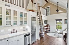 Nautical charm in this coastal kitchen by Borges Brooks in Watercolor, FL.
