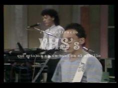 """Aquí Los Enanitos Verdes interpretando """"Simulacro de tensión"""" en 1986 en el popular programa """"Feliz Domingo"""" conducido por Silvio Soldan. Marciano con bajo Rickembacker que sonaba muy bien."""