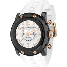 GLAM ROCK UNISEX MIAMI BEACH 46MM WHITE SILICONE BAND QUARTZ WATCH GR25146 #Casual