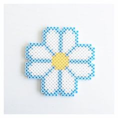 Daisy hama beads by perler_beads_in_my_heart                                                                                                                                                      More
