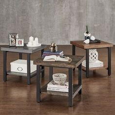 Shop for TRIBECCA HOME Cyra Industrial Reclaimed Accent End Table. Get free shipping at Overstock.com - Your Online Furniture Outlet Store! Get 5% in rewards with Club O!