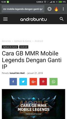 Begini cara GB mmr mobile Legends menggunakan metode ganti ip. Baca selengkapnya di androbuntu.com