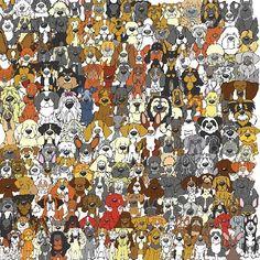 Onderwijs en zo voort ........: 2754. Zoek de panda : Afbeelding 3 ( Honden )