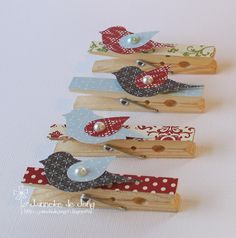 Janneke, Stampin' Up! Demonstrator : Bird Punch Knijpers