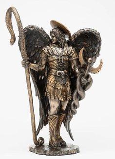 St. Saint Raphael Archangel Statue With Healing Staff Figurine Christian Statue in Collectibles | eBay