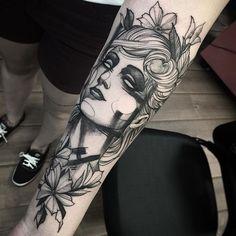 Tattoo da Ivila valeu menina #electricink @inkonik_tattoo_studio
