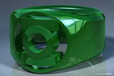 Rendering of a ring based on the Green Lantern power rings from DC Comics. Software: Modeled and rendered with Newtek Lightwave The Red Ring The Orange Ring The Yellow Ring The Green Ring The. Green Lantern Power Ring, Blue Lantern, Green Lanterns, Green Rings, Black Rings, Superman Ring, Lantern Rings, Frank Miller Comics, Green Lantern Comics