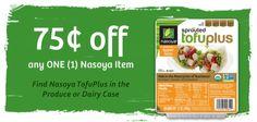 $.75/1 Coupon for Nasoyo TofuPlus Tofu http://ginaskokopelli.com/751-coupon-for-nasoyo-tofuplus-tofu/