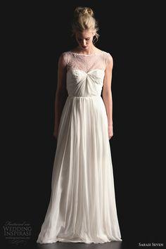 sarah seven spring 2014 ingenue wedding dress illusion neckline