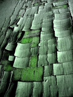 chipped green paint