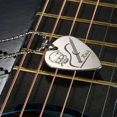 Guitar Pick Necklace with Ball Chain Silver Color Stainless Steel High Quality Guitar Parts and Accessories Music Necklace, Guitar Pick Necklace, Buy Guitar, Guitar Gifts, Gift For Music Lover, Music Lovers, Cheap Guitars, Steel Guitar, Guitar Accessories