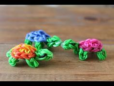 Rainbow Loom New 3D Turtle/Franklin the Turtle Figure/Charm - How to - Animal Series - YouTube