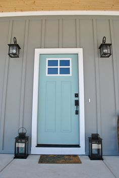 Best Exterior Paint Colors For House Blue Gray Robins Egg Ideas Best Exterior Paint, Exterior Paint Colors For House, Paint Colors For Home, Paint Colours, Exterior Colors, Duck Egg Blue Exterior Paint, Robins Egg Blue Paint, Tan House, Sweet Home