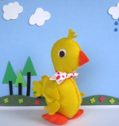 Duck Sewing PATTERN - Baby Duck Hand Sewing Pattern - DIY Duckling Felt Duck Toy MariaPalito A805