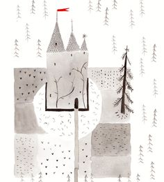 The+Knight's+House+by+Ana+Frois  -+Digital+print+of+an+ecoline+and+indian+ink+original -+Printed+on+220+gsm+medium+grain+paper+with+a+white+border+for+framing -+Available+sizes:+A5/A4/A3 -+Signed+and+dated+on+the+front+in+pencil -+Shipped+in+a+protective+plastic+sleeve+with+cardboard+backing,+in+a+sturdy+envelope  A5:+21x14,8+cm A4:+29,7+x+21+cm A3:+29,7+x+42+cm 1cm+=+0,39+inches  Thanks+for+looking! www.anafrois.com