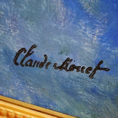 Detail of Claude Monet's signature (Water Lilies)