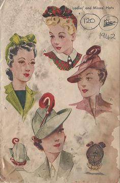 Late 1930's-1940's Hat Ad