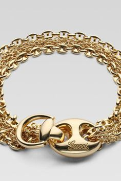 This 18kt bracelet from Gucci comes in yellow gold and pink gold