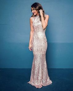 PREORDER - Sabine Maxi Dress - Rose Gold - Size Extra Small