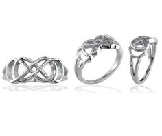 I love the symbolism!   Sure it doesn't have diamonds or gems, but that's not what the ring should be about. This really shows the connection two people can have... and I like that. :)    --    Sterling Silver or Bronze Double Infinity Ring Best by sziros