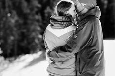 snowboarding engagement photos