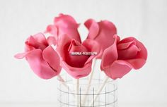 Розы из мастики и кейк-попс подробный мастер-класс с фото