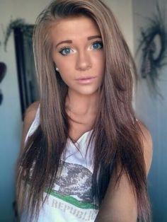 Ash blonde/brown with dark brown/black underneath!