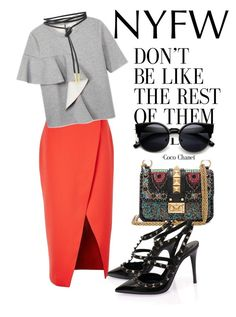 """""""sungai musi"""" by omahtawon ❤ liked on Polyvore featuring C/MEO COLLECTIVE, Marni and Valentino"""