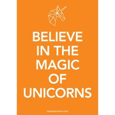 Poster Believe in the magic of unicorns