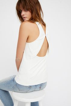 Boa Vista Tank | Soft and stretchy tank featuring a high neckline with back cutout details.
