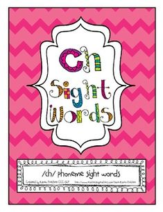 Combine academics with speech therapy! /ch/ sight words with activities for articulation therapy. Initial, Medial, and Final position /ch/ sight words. Homework, games, data sheets, and flashcards.