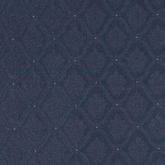 A495 Navy And Gold Two Toned Brocade Medallion Upholstery Fabric By The Yard #DiscountedDesignerFabrics