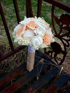 Rustic bridal bouquet peach and cream bridal by littlebluebirdsays bridesmaid bouquet, bride bouquets, rustic Rustic Bridal Bouquets, Wedding Arch Rustic, Bride Bouquets, Bridesmaid Bouquet, Small Bouquet, Flower Bouquet Wedding, Flower Bouquets, Alternative Bouquet, Sola Flowers