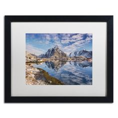 "Trademark Art 'Mirror in the Fjord' by Michael Blanchette Framed Photographic Print Size: 16"" H x 20"" W x 0.5"" D"