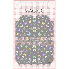$2.95 1 Sheet Gradient Butterfly Nail Art Stickers Ultrathin 3D Nail Sticker Adhesive Nail decals - BornPrettyStore.com