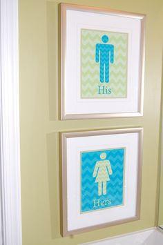 Such A Cute Idea For A Shared Bathroom