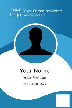 Certificate Design Template, Id Card Template, Resume Design Template, Card Templates, Identity Card Design, Name Card Design, Employee Id Card, Company Id, Free Id