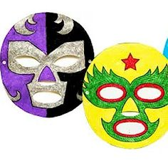 These Mexican Wrestling Masks are a fun craft for kids to get into the spirit of Cinco de Mayo.