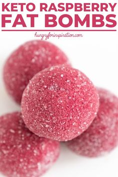Healthy Raspberry Keto Fat Bombs that are perfect low-calorie Keto Snacks or a refreshing Keto Dessert! Easy to make, only 5 ingredients needed and keto-friendly with only net carbs per serving! Low Carb Sweets, Low Carb Desserts, Keto Fat, Low Carb Keto, Ketogenic Recipes, Keto Recipes, Ketogenic Diet, Snack Recipes, Dessert Recipes