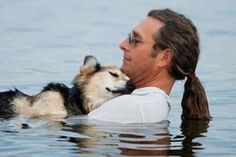 John Unger and his adopted dog Shep have been pals for 18 years, but time is catching up. The shepherd mix has lost his sight and suffers from arthritis, so man and best friend make regular trips into the shallows of Lake Superior, where the water offers some temporary relief.