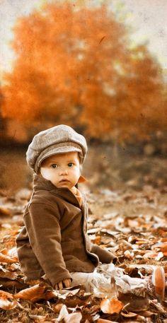 Fall, Autumn - Kid's fun in the leaves!