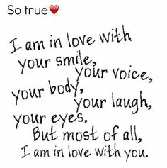 I'm in love with...