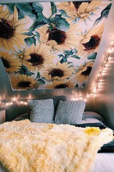 The Sunflower Tapestry Sunflower Tapestry Sunflower Tapestry For Room Tapestry Girls Teen Girl Bedrooms, Teen Bedroom, Modern Bedroom, Contemporary Bedroom, Master Bedroom, Cozy Bedroom, Farmhouse Contemporary, Hippie Bedrooms, Bedroom 2018