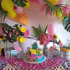 Aniversário com tema tropical