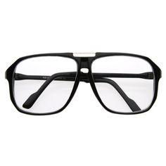 Oversize Nerd Retro Square Clear Lens Glasses 2949