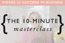 Here's where we'll share our 10-minute masterclass business videos, to share strategies to help you build a successful business.