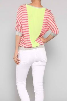 Sunset Sorbet Striped Top