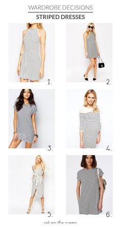 Striped Dresses For Your Capsule Wardrobe | Cat On The Moon - A thoughtful style blog for a simple life. (www.catonthemoon.xyz)