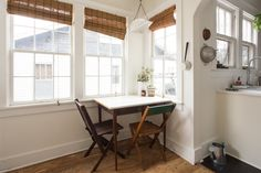 The intimate breakfast table perfect for two.