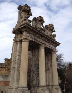 Holliday Park Ruins, not far from our house.